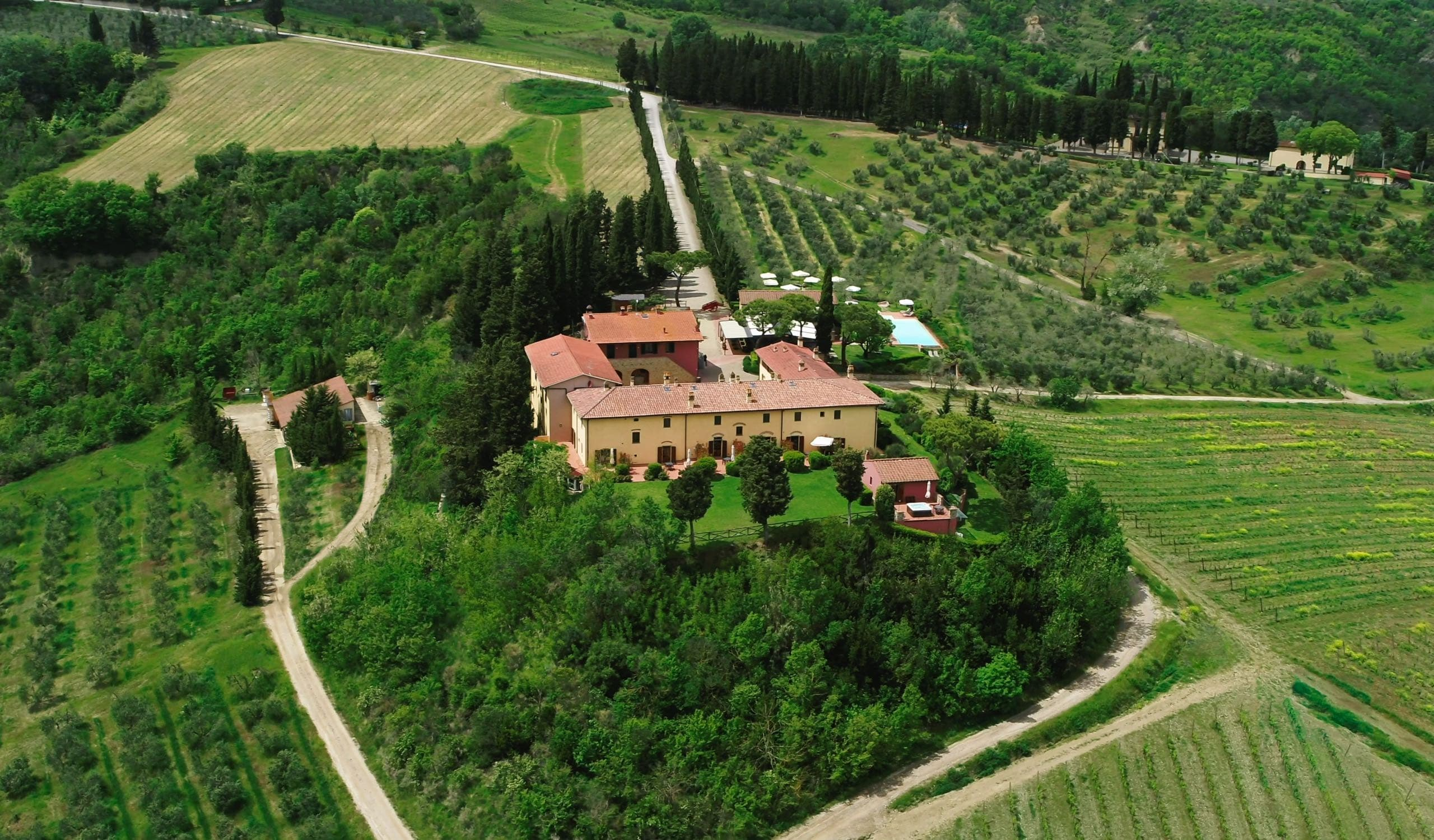 Aerial view of Borgo Divino